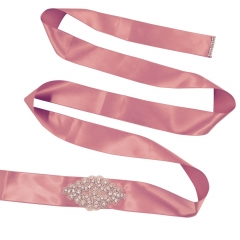 Silk Belts with Rhinestone Bridal Sash Belt for Dress