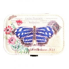 Butterfly Print Jewelry Box Organizer with Mirror
