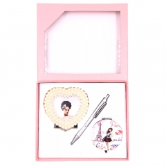 Ballpoint Pen + Mirror +Photo Frame Set for Best Friend Girls with Box