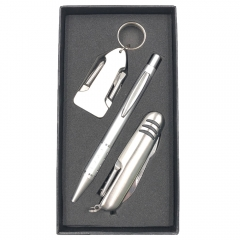Tool Set with Gift Box, All-in-one Waiters Corkscrew Bottle Opener and Foil Cutter (Set C)