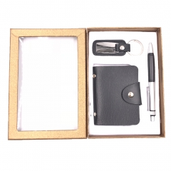 Hardcover Notebook + Pen + KeyChain Set Gift for Men Boys Valentine (Set B)