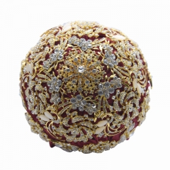 Burgundy Wedding Bridal Roses Brooch Bouquet