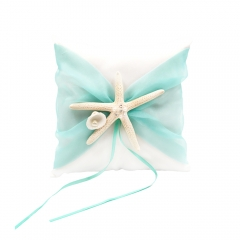 Organza Bowknot Wedding Ring Bearer Pillow Romantic Beach Wedding Light Green