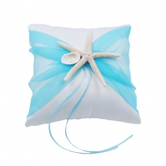 Organza Bowknot Wedding Ring Bearer Pillow Romantic Beach Wedding Tiffany Blue