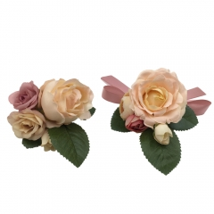Prom Wrist Corsage Brooch Boutonniere Set Wedding Flower Décor