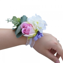 Lavender Rose Wrist Corsage for Prom Wedding Party