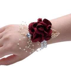Silk Flower Classic Wrist Corsage for Prom Party Wedding