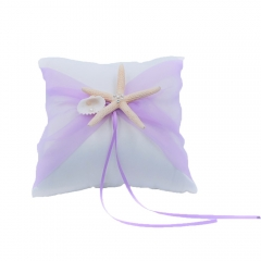 Organza Bowknot Wedding Ring Bearer Pillow Romantic Beach Wedding Light Purple