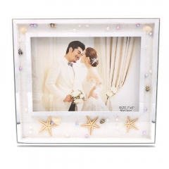 "5x7"" 8x10"" Starfish Pearls Decorated Photo Frame Gift for Couple"