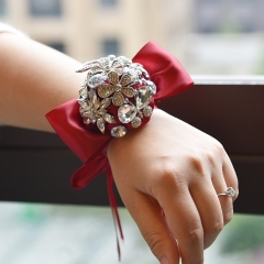 Luxury Brooch Rhinestone Jewelry Covered Wrist Corsage