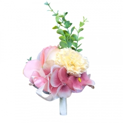 Pink Rose Boutonniere Pin for Prom Wedding Party Lily