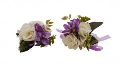 Wrist Corsage Brooch Boutonniere Set Party Prom Rose