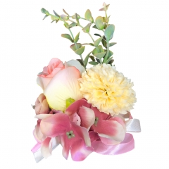 Pink Rose Wrist Corsage for Prom Wedding Party Lily
