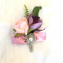 Dusty Pink Peony Rose Boutonniere for Prom Party Wedding