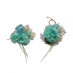 Light Blue Prom Corsage Boutonniere Set Carnation Pin