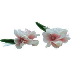 Pink Prom Corsage Boutonniere Set Flower Pin for Party
