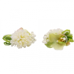 Boutonniere Wrist Corsage Set for Prom Party Phalaenopsis Flower