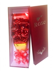 Artificial Golden Foil Rose Bouquet (Red)