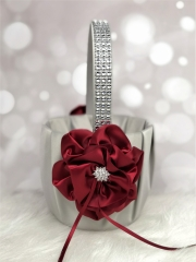 Rhinestone Wedding Flower Girl Basket