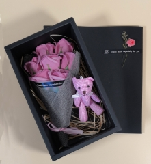 Pink Confession Scented Soap Rose Teddy Bear Gift Box Birthday Mother's Anniversary