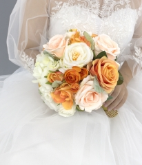 Final Payment for Customization Orange Navy Blue Cream Rose Wedding Flower Package