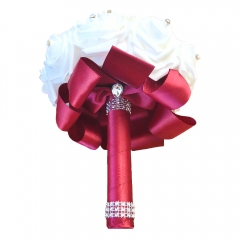White Rose Bouquets Bridal Wedding Flower Package